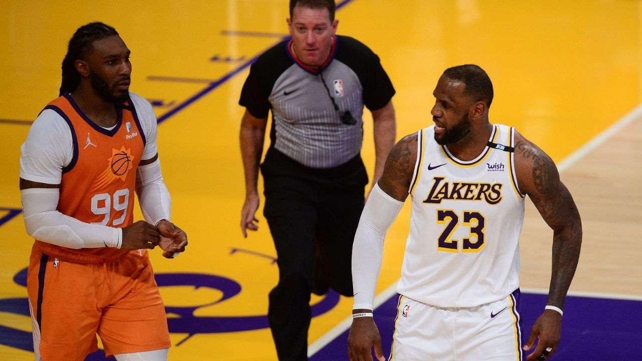 """""""LeBron James, Michael Jordan would never do this"""": Lakers fans aghast after Finals MVP gives up down the stretch of Game 4 vs Chris Paul's Suns at Staples Center"""