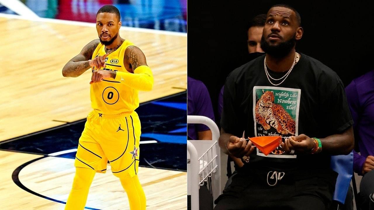 """LeBron James, respectfully, it's Kanye West"": Damian Lillard refutes Lakers star's picks for 2010s hip-hop Mount Rushmore, featuring Drake and Kendrick Lamar"