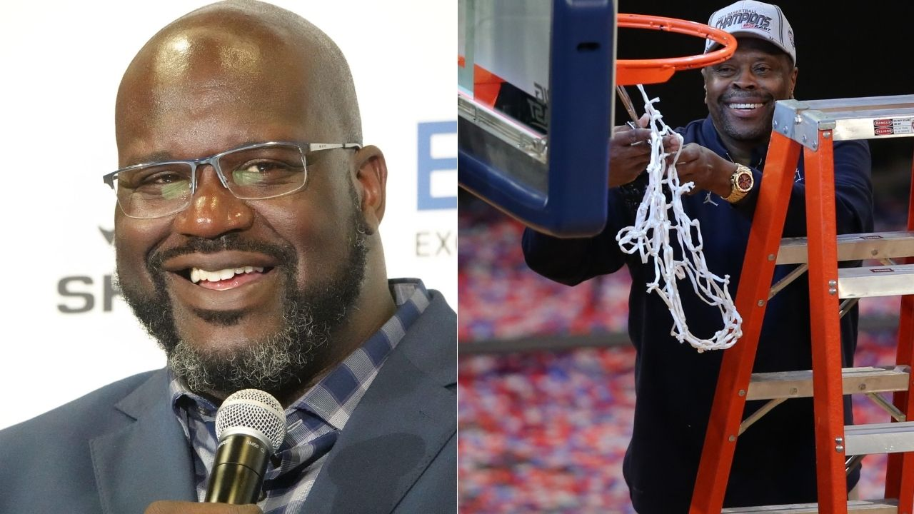 """""""Patrick Ewing! That's my idol"""": Shaquille O'Neal surprised by the Knicks legend with an appearance on his Big Shaq podcast"""