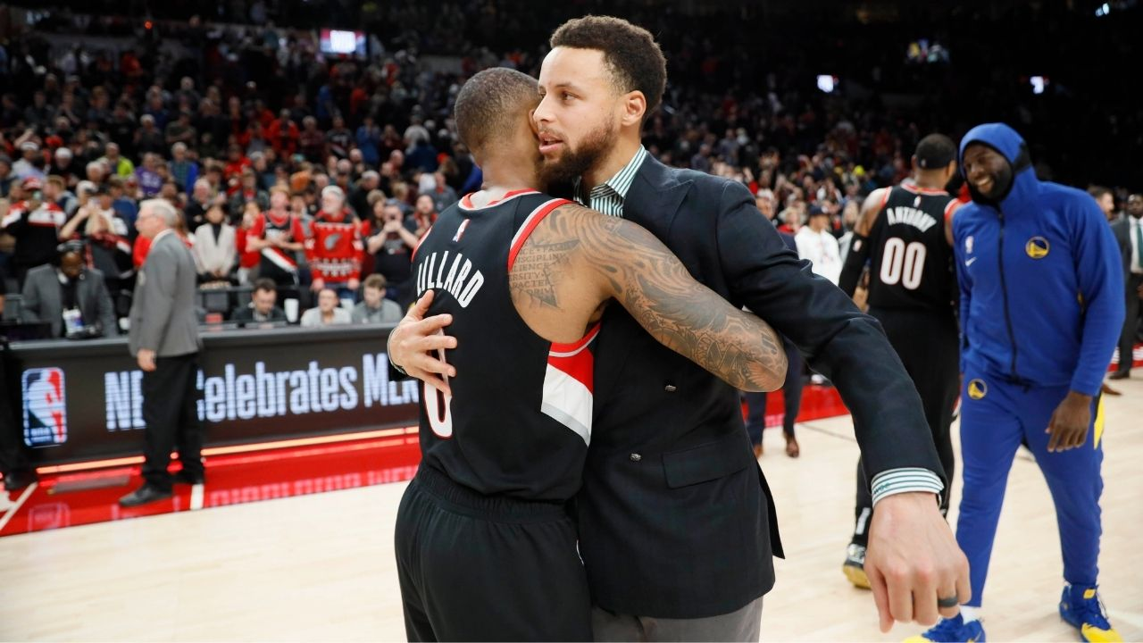 """""""Stephen Curry is right behind Magic Johnson"""": Damian Lillard gives huge props to the Warriors legend calling him the """"greatest shooter of all time"""""""