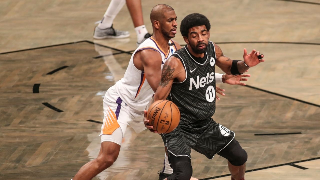 """""""Kyrie Irving and Chris Paul are the NBA's best mid-range shooters"""": Kirk Goldsberry demonstrates how Nets and Suns guards are shooting over 50%"""