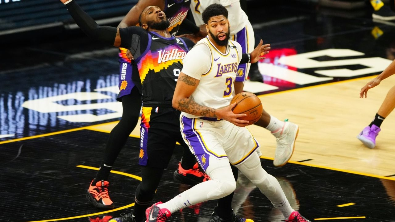 """""""Anthony Davis, not LeBron James, is the Lakers' tone-setter"""": Skip Bayless explains the case for AD being more important than LeBron vs Chris Paul's Phoenix Suns in Game 2"""