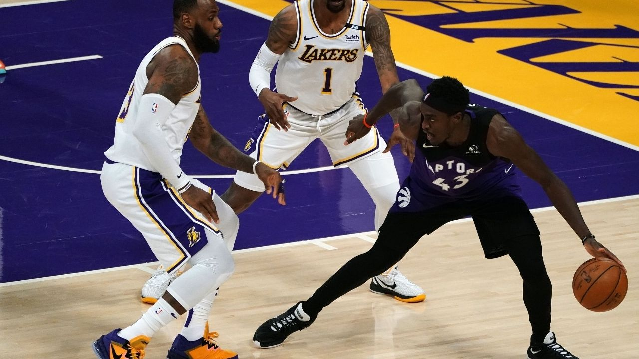 """LeBron James, Anthony Davis, and Kareem Abdul-Drummond lost to the Raptors"": Skip Bayless mocks the Lakers for 121-114 loss and calls out Shannon Sharpe"