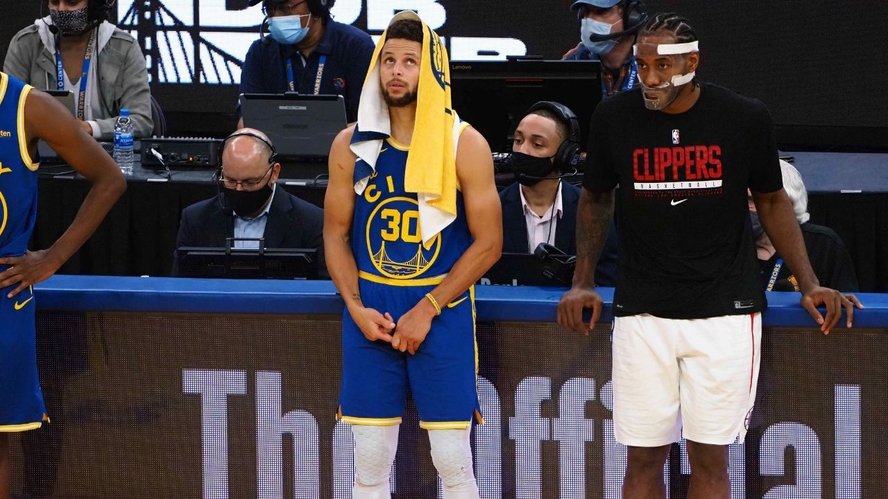 """""""Kawhi Leonard to team up with Stephen Curry?!"""": Warriors fans flood Twitter with recruitment posts for the Clippers' star as Mavericks go up 2-0"""
