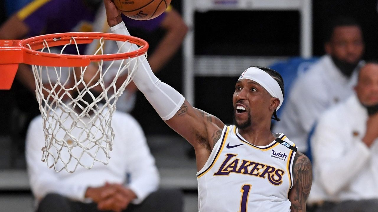 """""""KCP slammed it down like LeBron James"""": Lakers' Kentavious Caldwell-Pope posterized Clippers' Ivica Zubac in blowout loss last night"""