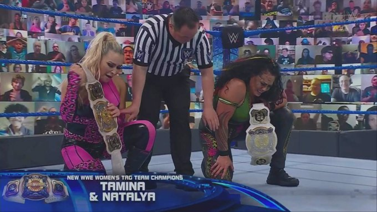Natalya and Tamina become WWE Women's Tag Team Champions on SmackDown