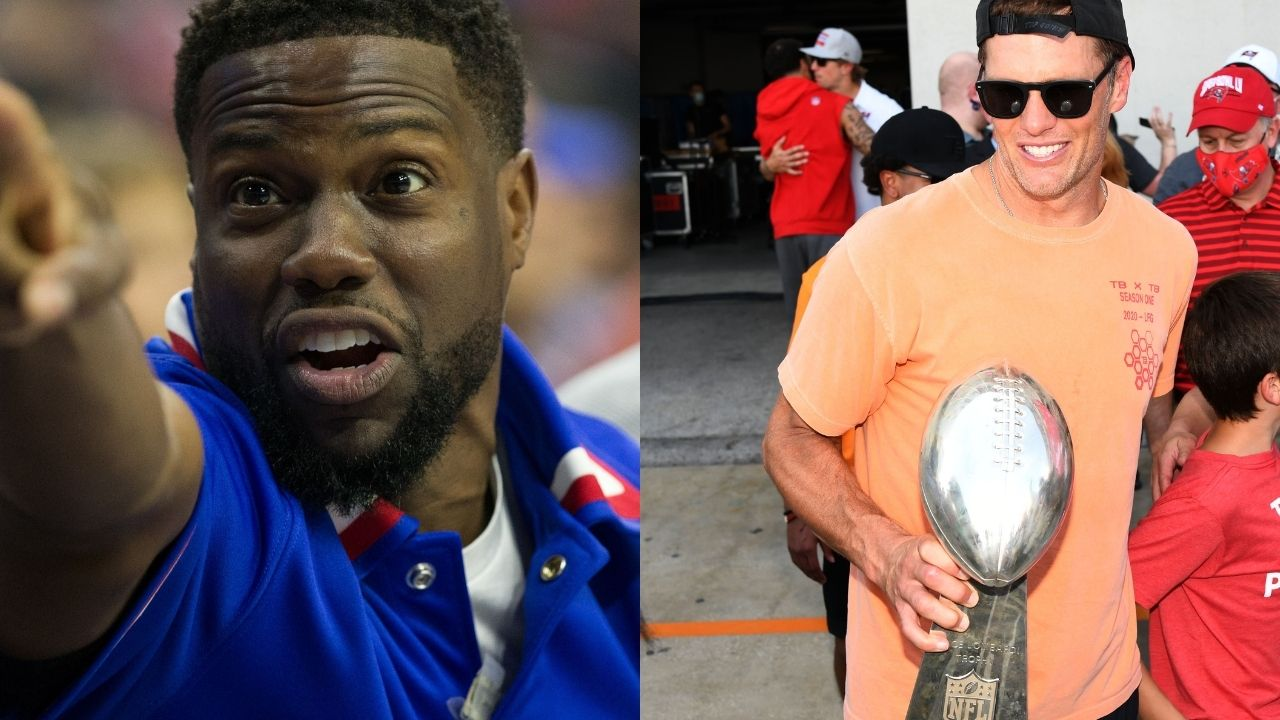 """""""Go to Detroit and win a Super Bowl"""": Comedian Kevin Harts challenges Tom Brady to win a Super Bowl."""