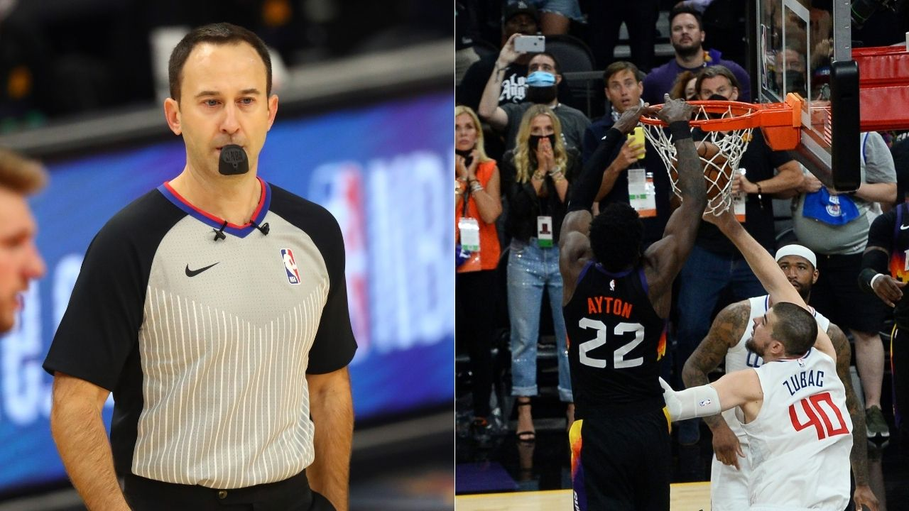 """""""Kane Fitzgerald definitely didn't know the rules"""": NBA referee flamed for calling Deandre Ayton as offensive goaltending initially in Suns' Game 2 win"""