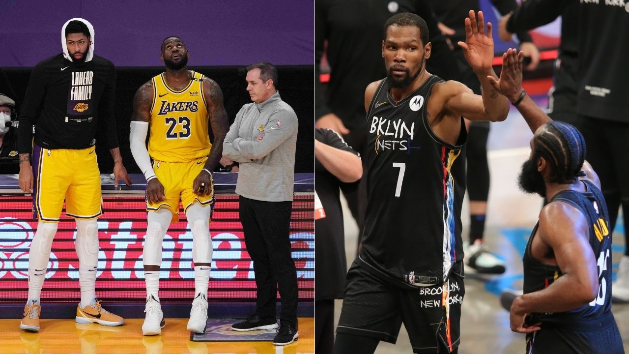 """""""LeBron James has one year left, it's Kevin Durant's league after that"""": Magic Johnson backs Lakers superstar to make another title bid in 2021-22 alongside Anthony Davis"""