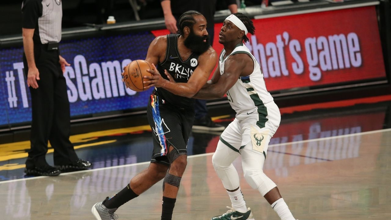 """""""James Harden is a liability on both ends"""": Skip Bayless and NBA Twitter mock the Beard for his abysmal Game 5 performance against the Bucks"""