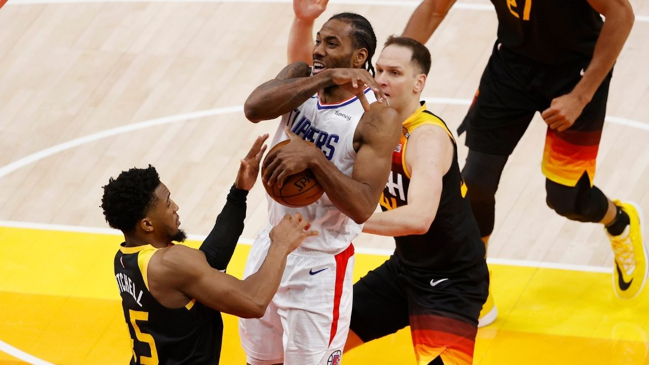 """""""KAWHI LEONARD, THIS WAS YOUR MOMENT! YOU DEFERRED"""": Skip Bayless launches an assault over the abysmal final play by the Clippers in Game 1 against the Jazz"""