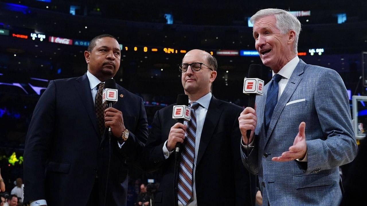 """Mike Breen, Mark Jackson and Jeff van Gundy return courtside"": Veteran NBA on ABC crew will be calling Bucks vs Nets Game 4 from courtside"
