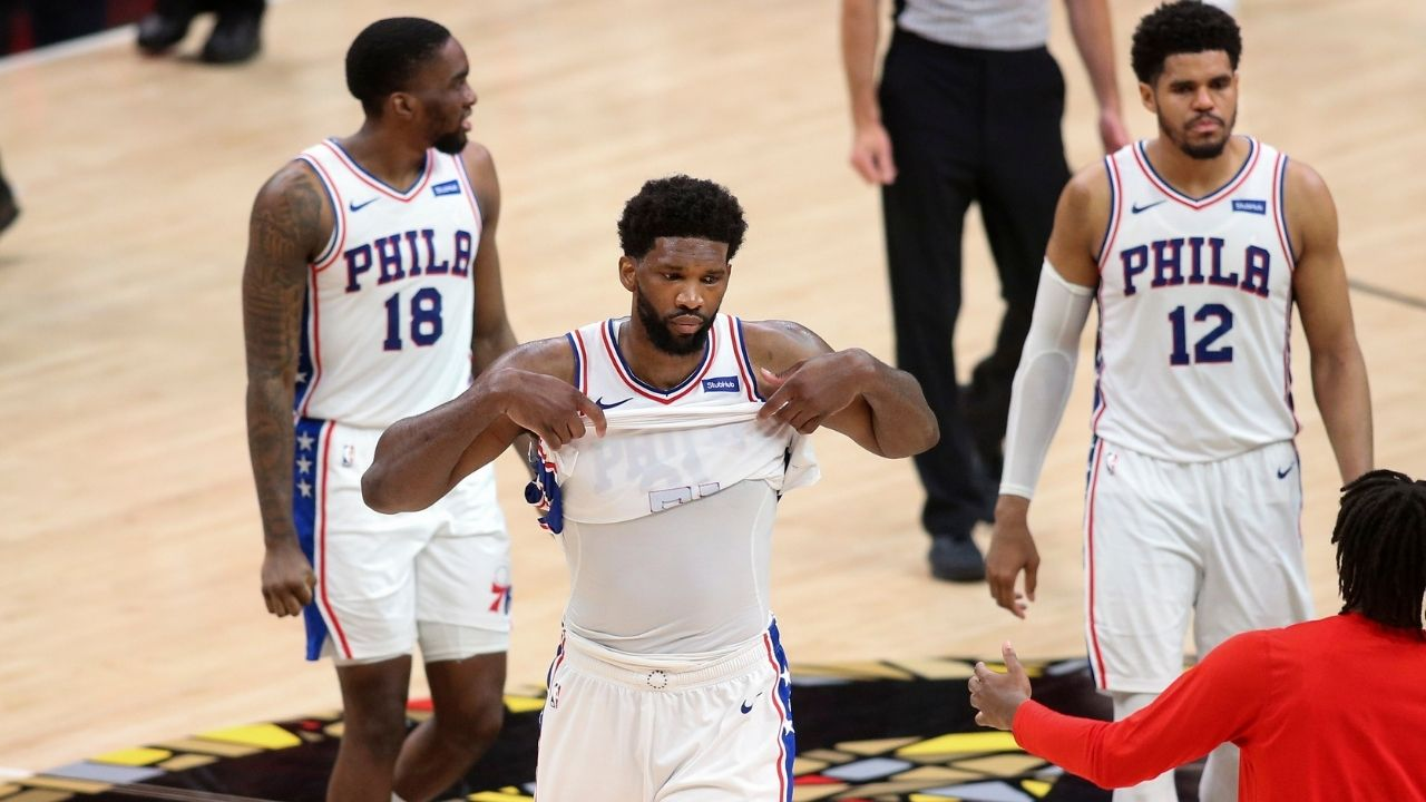 """""""Whenever you wear Joel Embiid out, everything becomes tougher for him"""": Clint Capela opens up after the Sixers talisman's second half stinker in Game 4 defeat against the Hawks"""