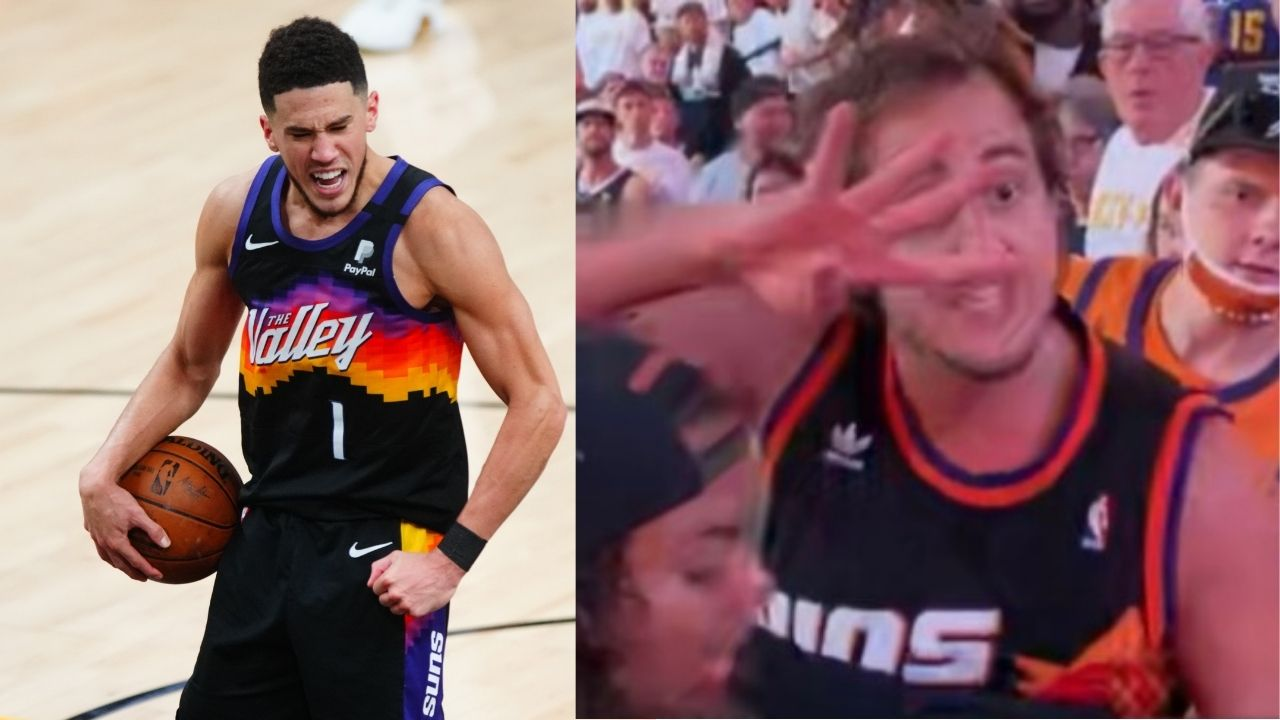 """""""Devin Booker gave this guy a platform for the wrong reasons"""": NBA Twitter is in splits as 'Suns in 4' guy gets celebrity status"""
