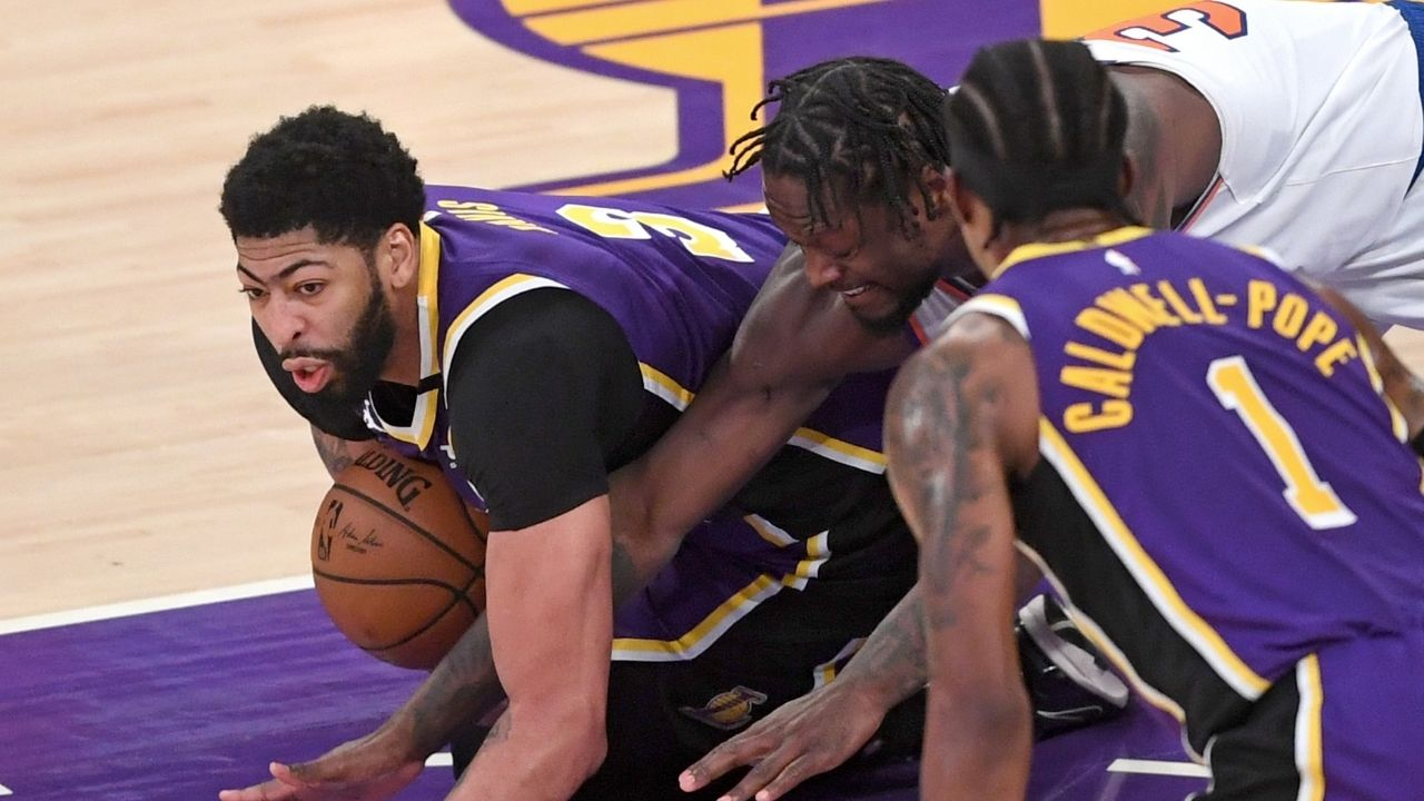 """""""Anthony Davis has to take another level of improving his body"""": Kevin Garnett sounds off on the Lakers star's injury troubles as LeBron James continues to age"""