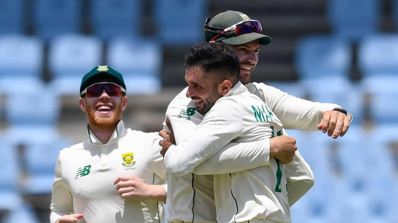 Keshav Maharaj hat-trick video: Maharaj picks three in three as South Africa tighten grip on St Lucia Test