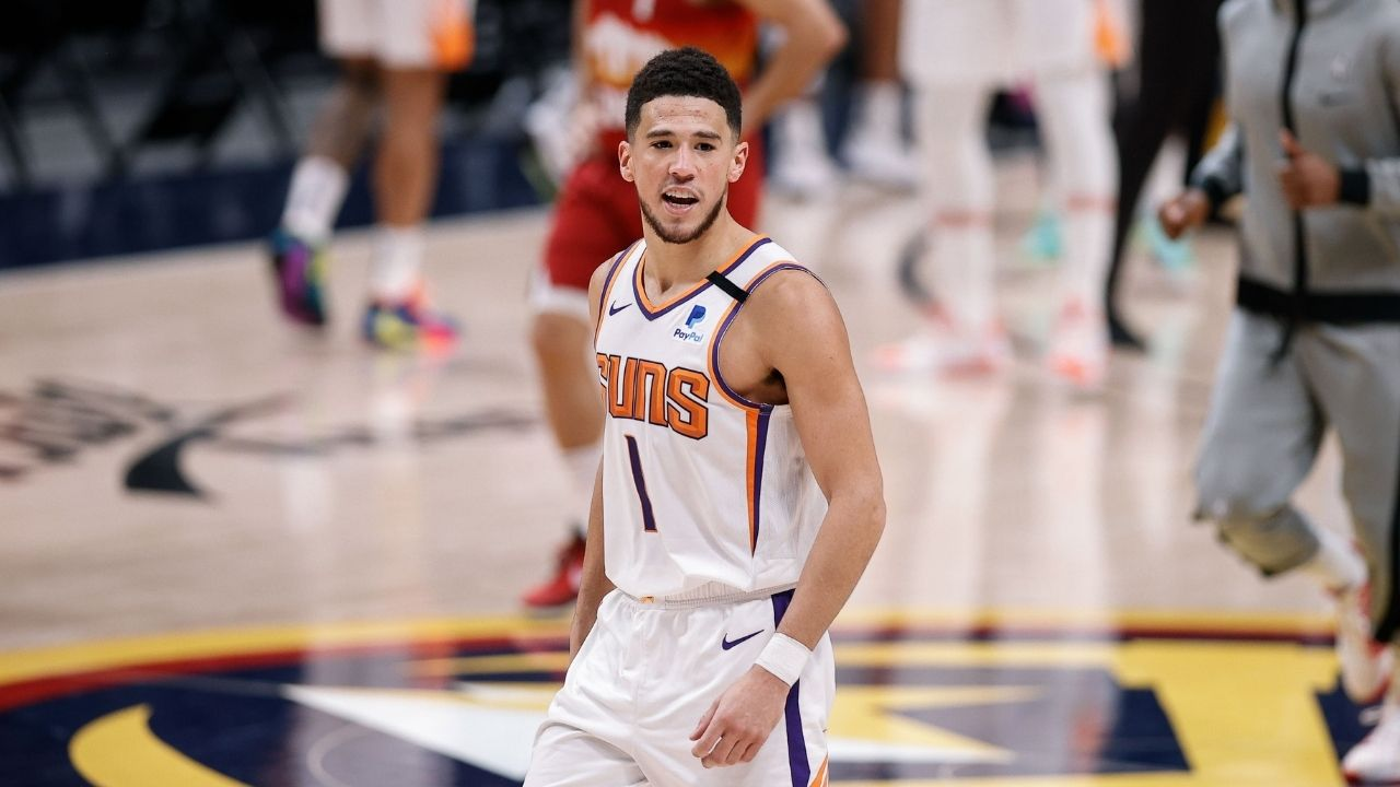 """""""Need man's info"""": Devin Booker hilariously stands up for Suns fan who counter-punched a Jamal Murray fan and screamed 'Suns in 4' during the scuffle"""