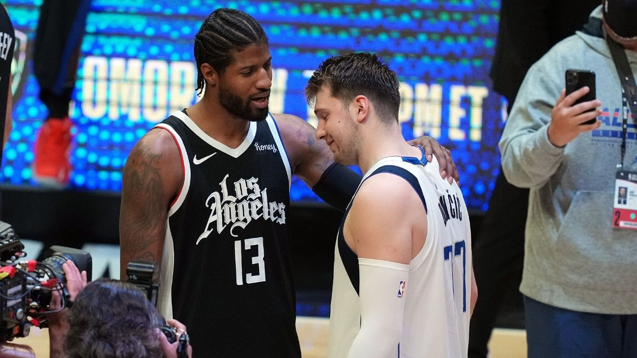 """""""Luka Doncic canceled out PG and Kawhi Leonard, but he needed one or two guys"""": Shannon Sharpe Likens Luka's One Man Show To LeBron James' Early Days With Cleveland Cavaliers"""