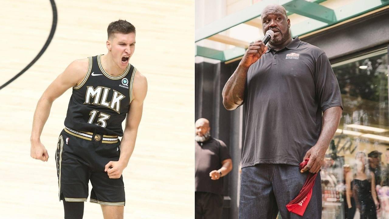"""Shaq, you're improving at Serbian"": Bogdan Bogdanovic praises the Lakers legend for his effort at learning Serbian after Hawks take Game 4 win vs Bucks"