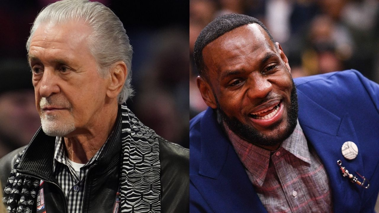 """""""Pat Riley trying to recruit LeBron James is what Pat Riley does"""": Dwyane Wade and Chris Bosh talk about the Miami Heat executive being fined $25,000 for tampering"""