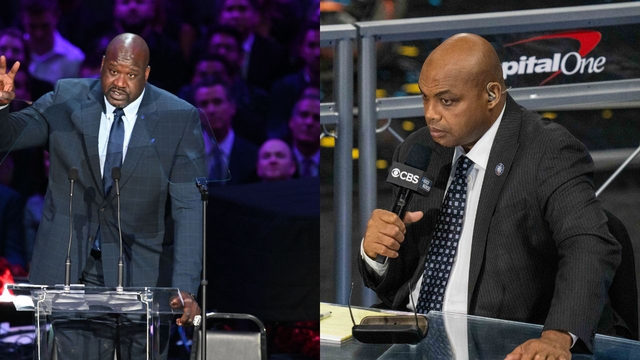 """""""Shaquille O'Neal got swept 6 times in the Playoffs"""": Charles Barkley hilariously goes at the Lakers legend while talking about Nikola Jokic and the Nuggets on NBAonTNT"""