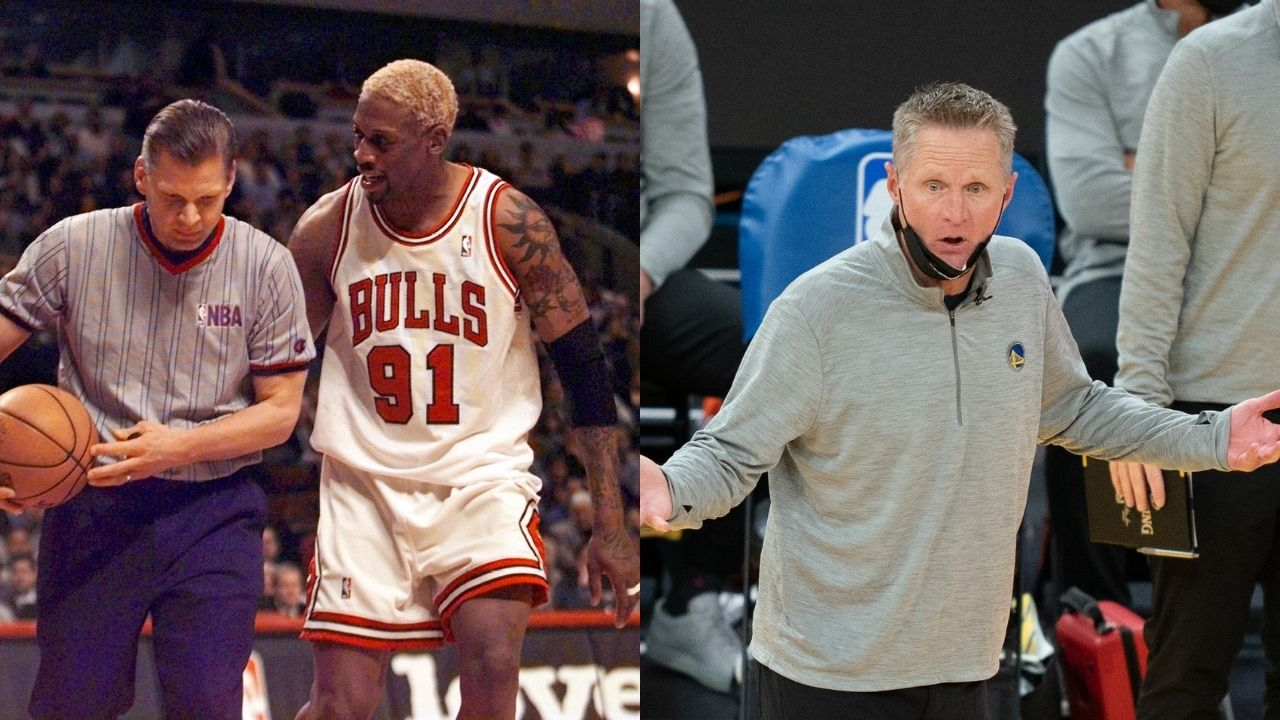 """""""Dennis Rodman intentionally missed shots to get extra rebounds"""": Steve Kerr provides a hilarious anecdote for the Bulls legend's insane rebounding stats"""