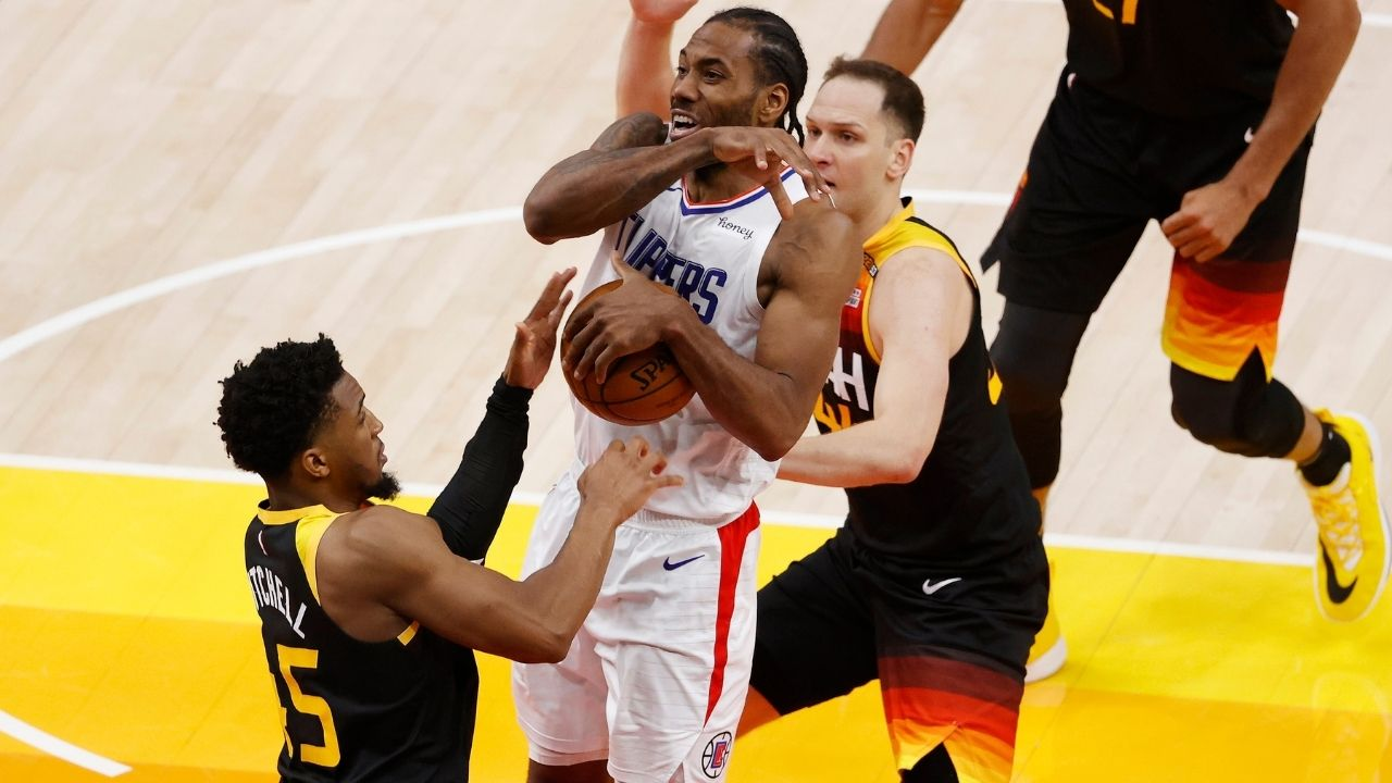 """""""Donovan Mitchell is Utah's answer to Kawhi Leonard and his star power"""": Kendrick Perkins blasts Paul George, praises Jazz star after stupendous Game 1 performance"""