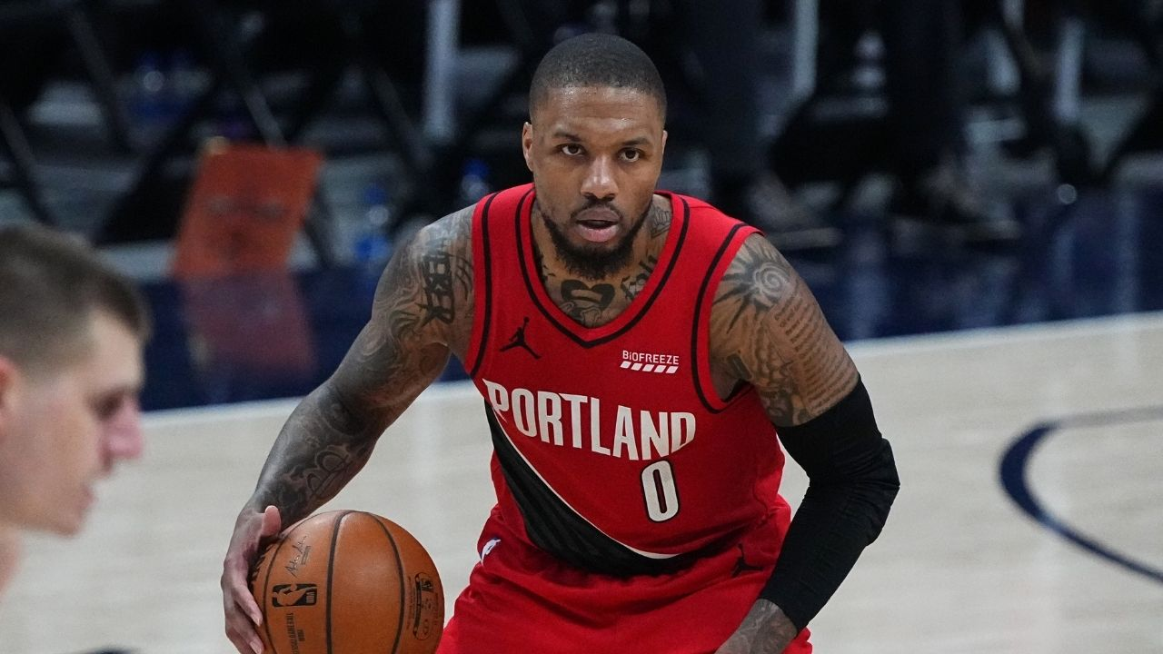 Damian Lillard record for most 3-pointers in NBA playoff series: Blazers superstar passes Donovan Mitchell with 35 3-pointers made vs Nikola Jokic's Nuggets upto Game 6