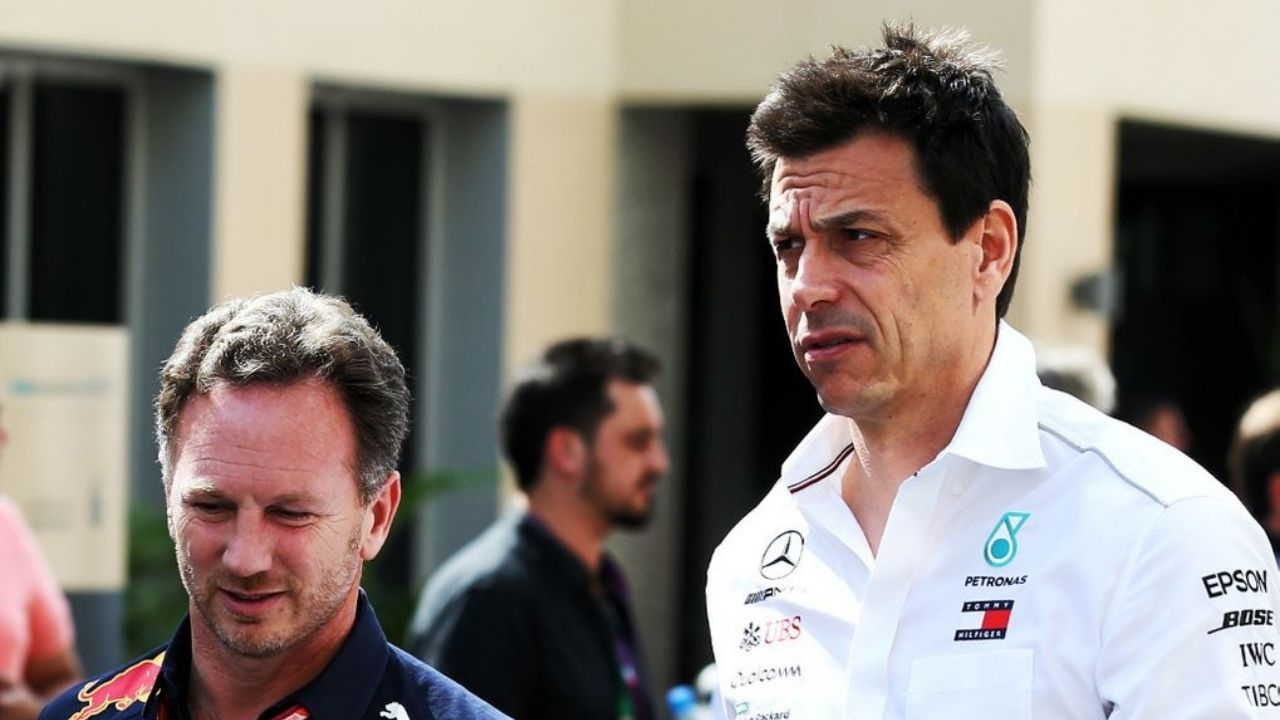 """""""I'd keep my mouth shut""""– Christian Horner warns Toto Wolff may expose Mercedes while outcrying against Red Bull on flexi-wings"""