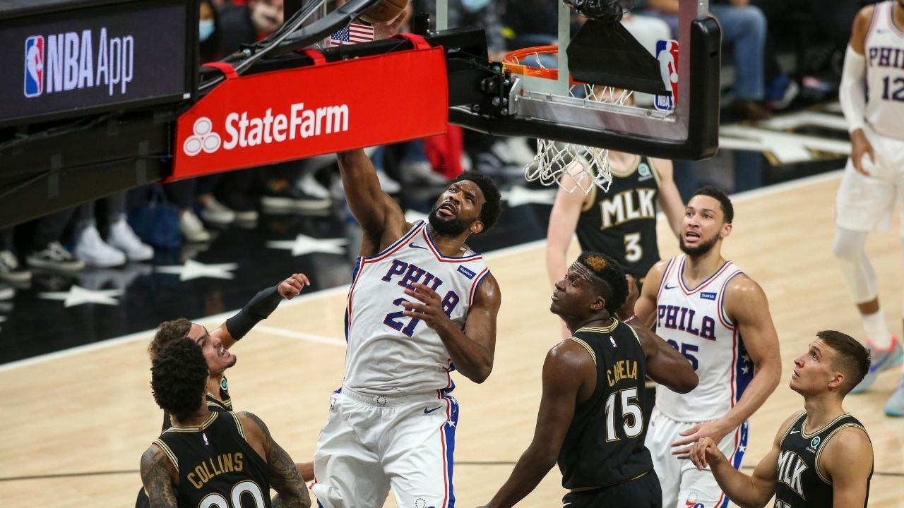"""""""Shaq does a live impression of how Trae Young would double Joel Embiid"""": Inside the NBA crew debates Sixers star's impact on games if he gets doubled by the Hawks"""