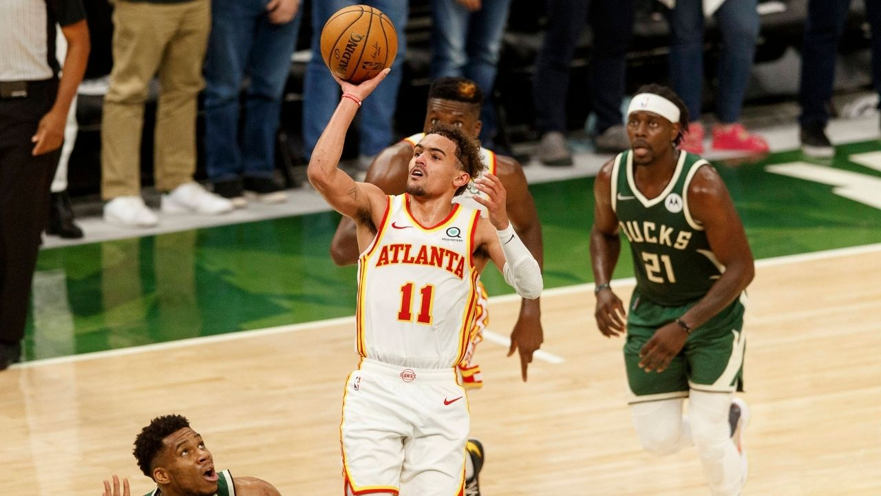"""""""We got weapons too!"""": Trae Young sends a warning to the Bucks, after his 48 point performance helped them seal the Game 1 win"""