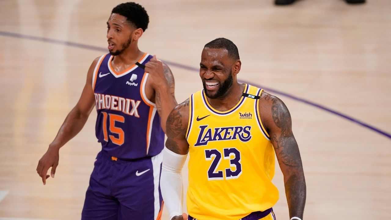 """""""LeBron James can't even hide his happiness after Kevin Durant's Nets lose"""": NBA fans call Lakers star petty after he reacts to a hilarious video featuring Thanasis, Giannis and Middleton"""