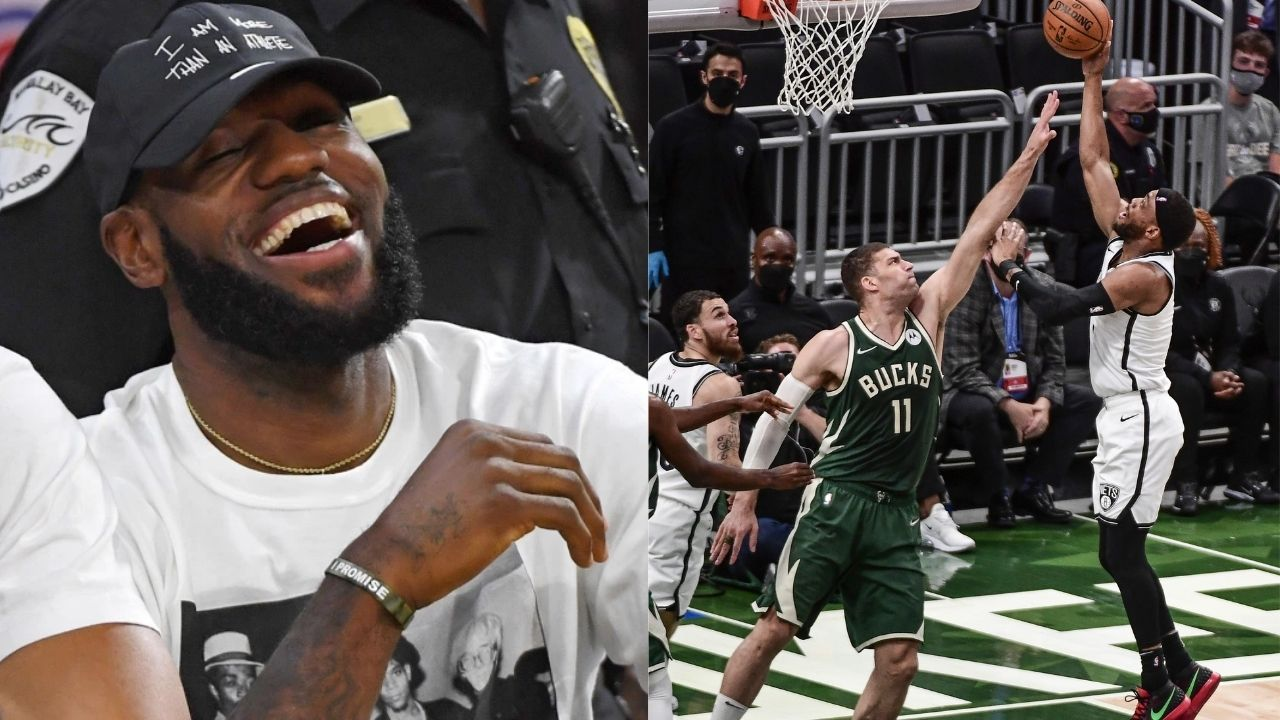 """""""Ayo Bruce Brown what is wrong with you?"""": LeBron James can't believe that Kyrie Irving or Kevin Durant didn't take the Nets' crucial shot in Game 3"""
