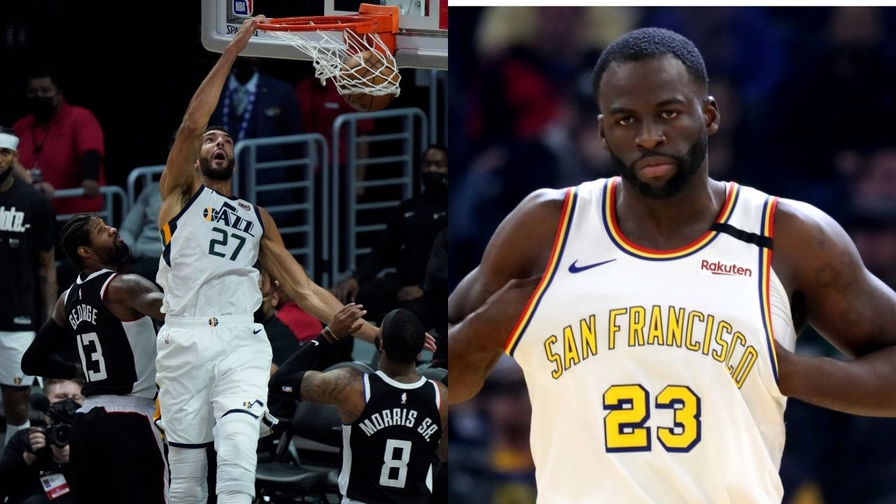 """""""Draymond Green, get better at shooting"""": Rudy Gobert likes tweet mocking Warriors star and asking him to get back to the gym"""