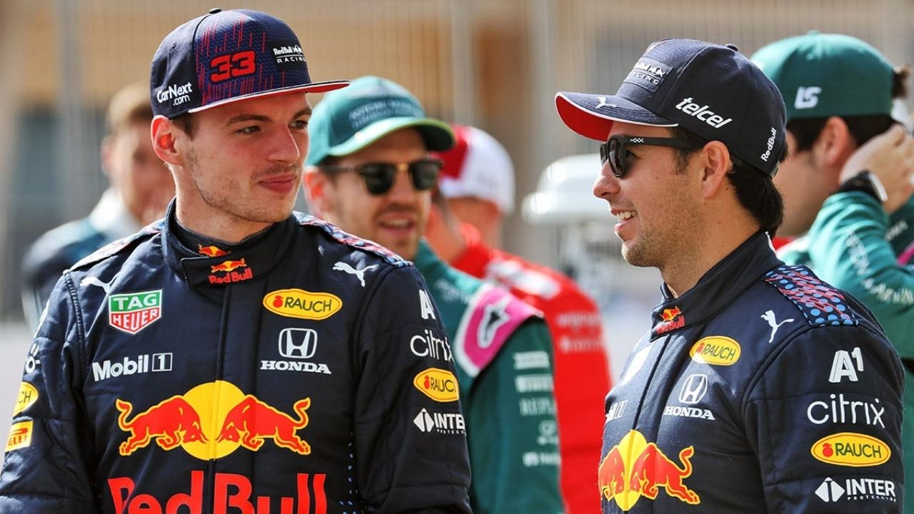 """""""It was good to see him smiling on the podium""""– Max Verstappen finds happiness in Sergio Perez's success"""