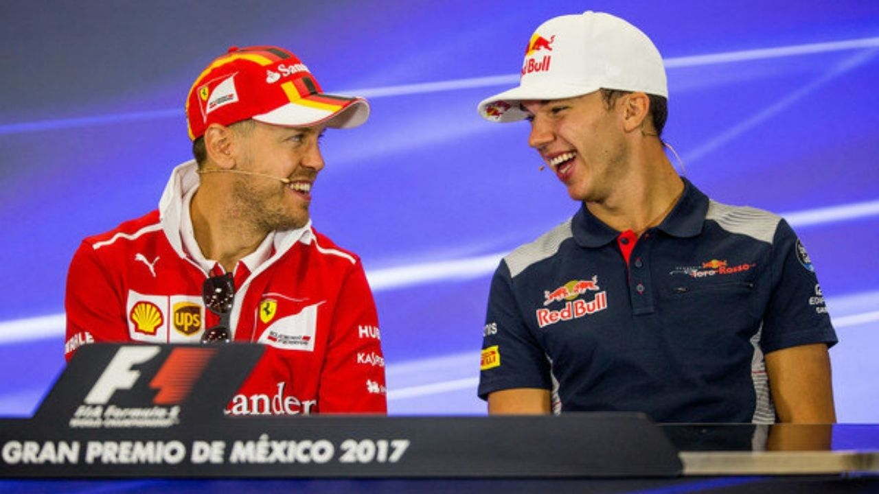 """I'm one of the few who doesn't pee in his car""– Sebastian Vettel makes gross revealation to Pierre Gasly"