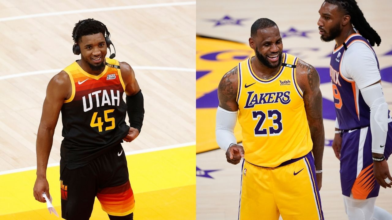 """""""Donovan Mitchell needs to be mentioned alongside LeBron James and Kevin Durant"""": Magic Johnson believes the Jazz stars deserves to be up there with the Lakers and Nets MVPs"""