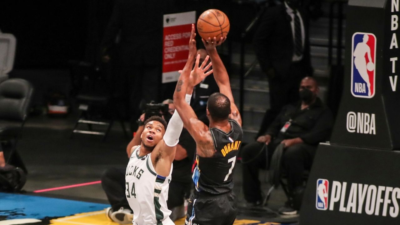 """""""Giannis could be the greatest to ever to do it"""": Kevin Durant heaps praise on Bucks star ahead of Nets' Game 3 at Fiserv Forum"""