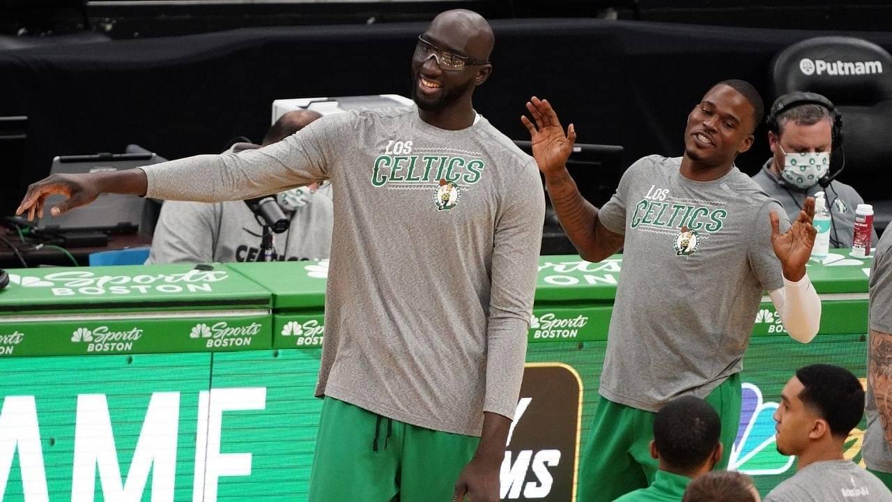 """Yooo Virgil van Dijk, Sadio Mane, let me know if Liverpool needs another striker"": Celtics big man Tacko Fall hilariously posts soccer video on Instagram"