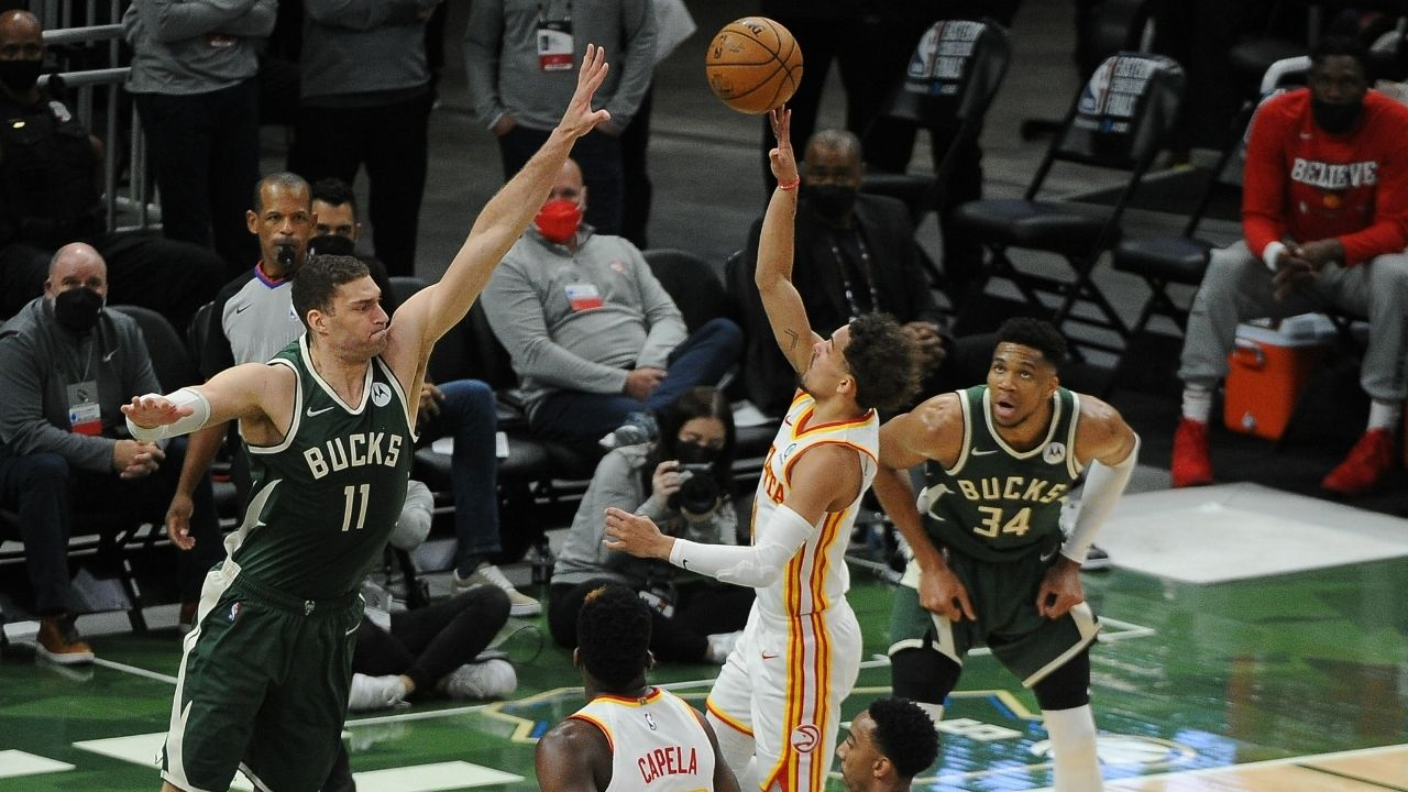 """""""Brook Lopez is playing veteran mind games on Trae Young"""": How the Bucks' veteran big tried to throw the Hawks' star off in Game 1 loss"""