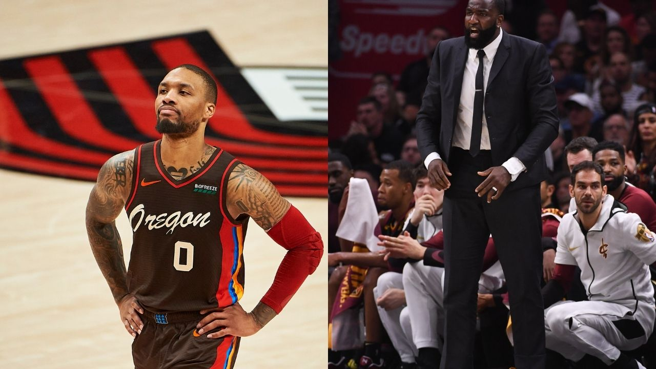 """""""Damian Lillard it's time for you to leave the Blazers"""": Kendrick Perkins claims the All-NBA guard should join forces with LeBron James on the Lakers"""