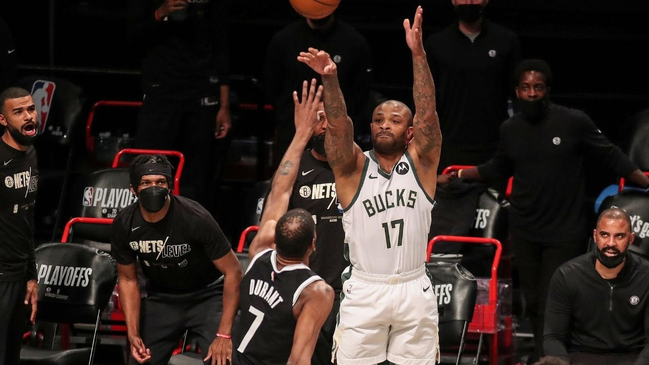 """""""The real MVP is going after PJ Tucker"""": NBA fans react to Kevin Durant's mom chirping and trash talking the Bucks star defender in Game 7"""