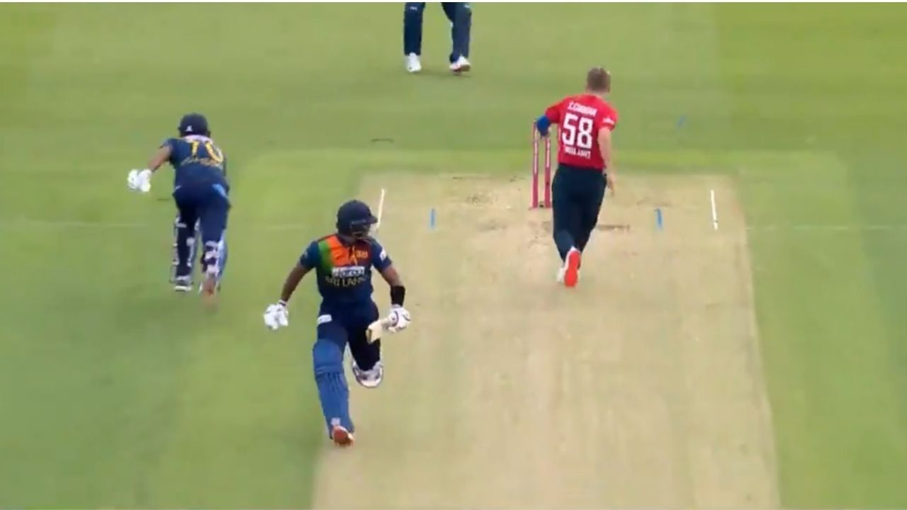 Sam Curran run-out in England vs Sri Lanka T20I: Curran's sublime footwork dismiss Danushka Gunathilaka in Cardiff T20I