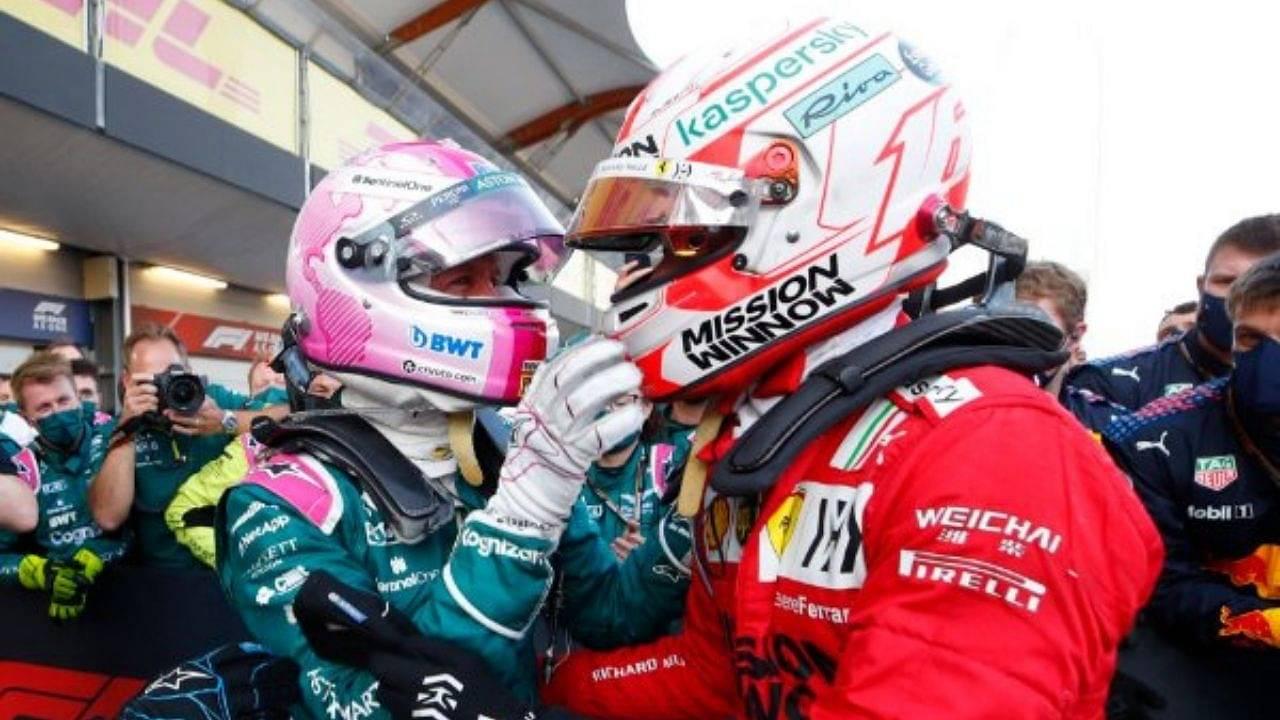 """I'm very happy for Seb""– Charles Leclerc on Sebastian Vettel's performance in Azerbaijan"