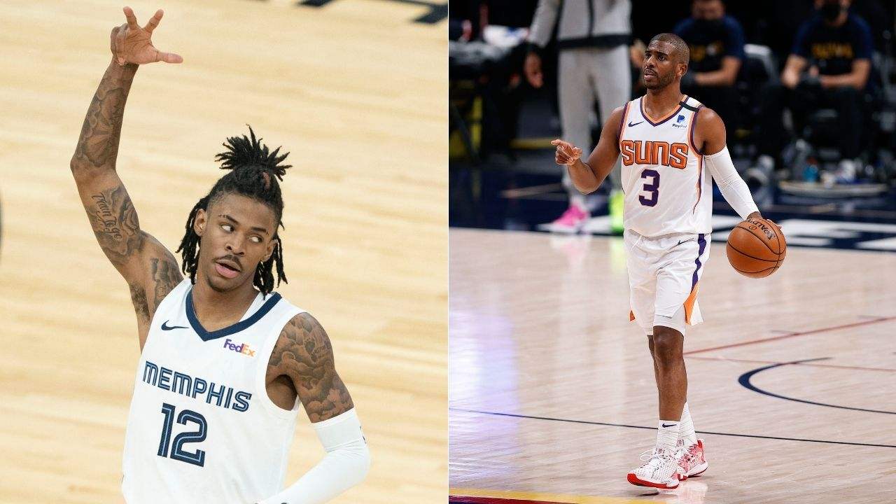 """""""Y'all gonna give Chris Paul more RESPECT one day"""": Ja Morant congratulates the Suns star after an incredible Game 4 performance and sweep of the Denver Nuggets"""