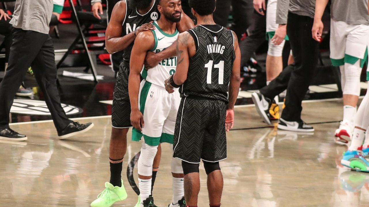 'Kyrie Irving's stomp on Celtics logo wasn't treated with anger': Boston's management were shocked by Celtics stars' reaction to Kyrie's antics