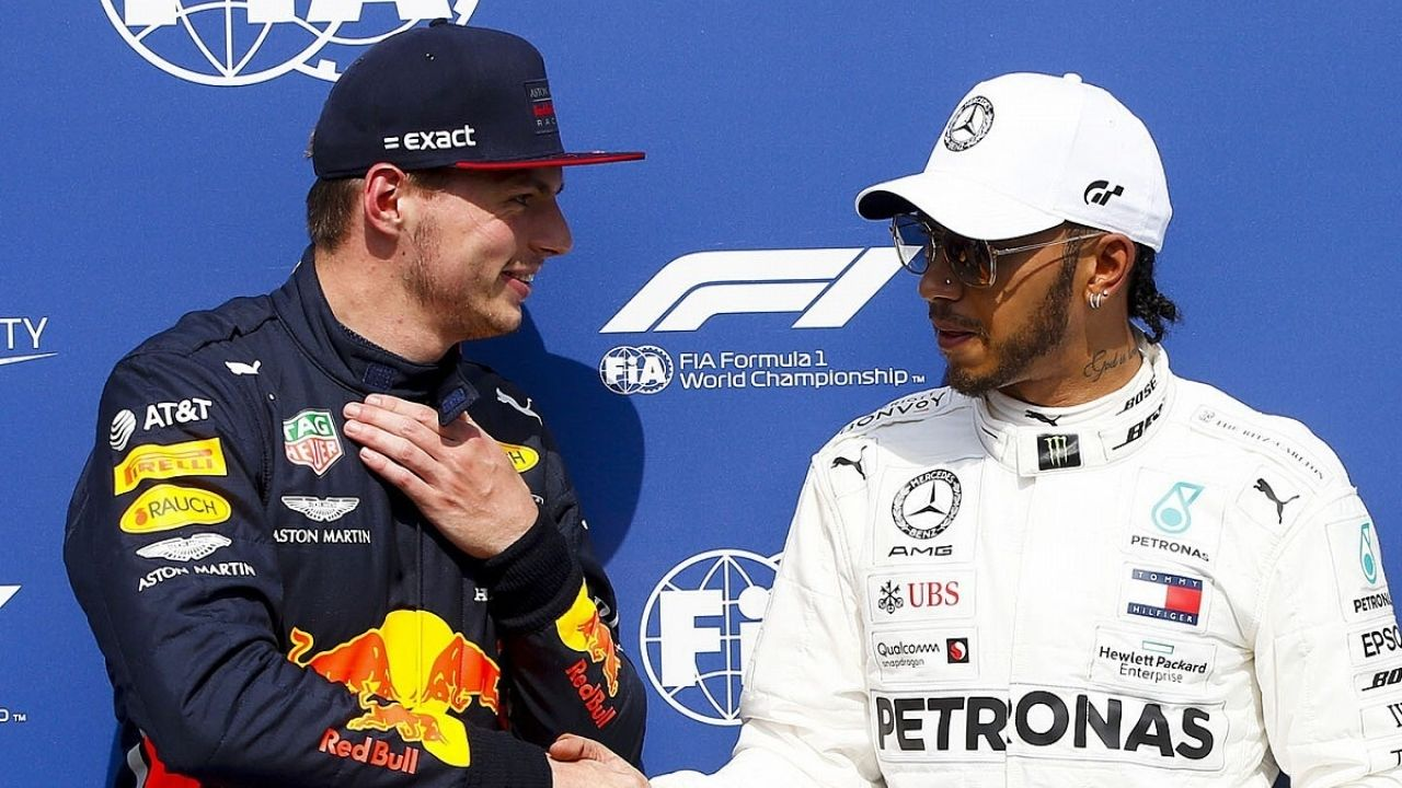 """""""We are very normal with each other""""– Max Verstappen speaks on his relations with Lewis Hamilton"""