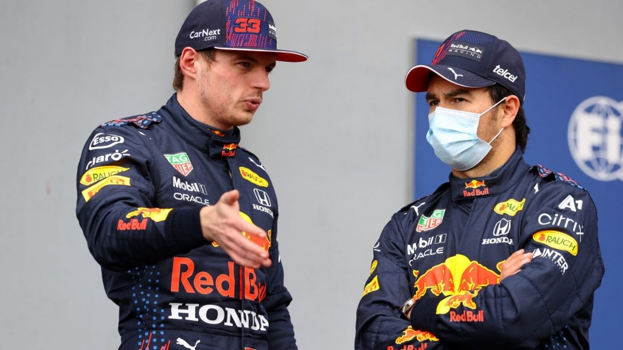 """""""I'm very lucky to have that reference in him"""" - Sergio Perez mightily impressed with Red Bull teammate Max Verstappen"""