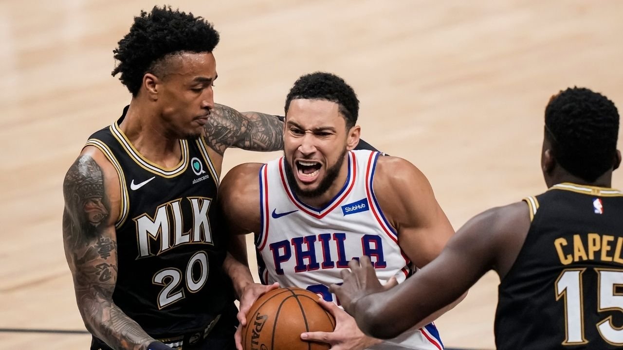 """""""Ben Simmons and Andre Drummond would be awesome in Phillipines"""": NBA fans blast Sixers star for yet another terrible outing vs Hawks in Game 6 win"""