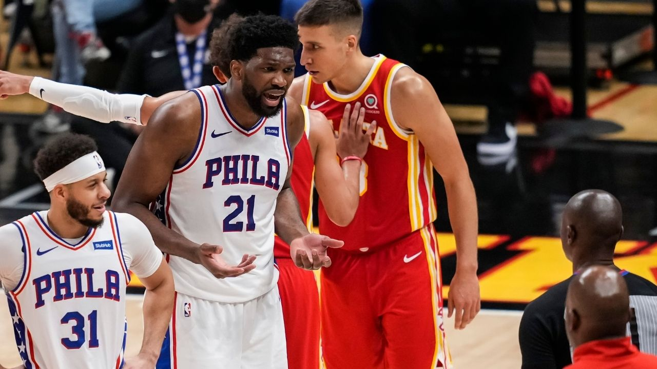 """""""Hawks fans were cheering Joel Embiid getting injured but ESPN won't run anti-Atlanta content"""": NBA fans emasculate Atlanta fans who cheered twice after the Sixers star appeared to injure himself"""